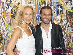 Carmen Lomana and Jordi Molla in Marbella on Marbella Eye  http://marbella-eye.com/marbella-arts-golden-age-with-jordi-molla/