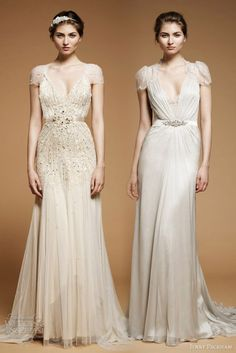 Jenny Packham Wedding Dresses  Willow and Aspen wedding gowns from Jenny Packham 2012 bridal collection.