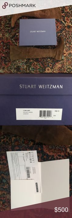 NWT Stuart Weitzman Lowland OTK Boot 8.5N NWT Stuart Weitzman OTK Boot size: 8.5N Walnut Suede Stuart Weitzman Shoes Over the Knee Boots