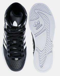 adidas Originals Extaball Black High Top Trainers