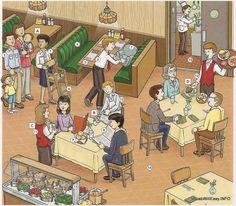 digibordplaat: in het restaurant