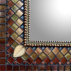 Bronze Silk Gothic Cathedral by Angie Heinrich: Mosaic Mirror available at www.artfulhome.com: