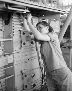 Female World War II Aircraft Electrician