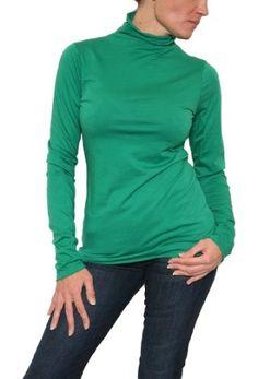 emerald turtleneck shirt women | Women's Velvet by Graham & Spencer Talise Turtleneck in Emerald by ...