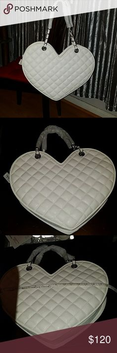 Rare Bebe Quilted Heart Purse New!! Never worn Vegan leather bag. Rare find. bebe Bags Shoulder Bags