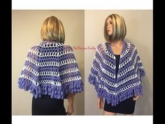 How to Crochet Capelet Inspired Shawl Pattern #77│by ThePatternfamily