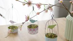 Out of empty tealight cases, Patricia Morgenthaler designs small enchanting … - Easter Day Recycled Crafts, Diy And Crafts, Paper Crafts, Diy For Kids, Crafts For Kids, Nature Crafts, Rustic Christmas, Scrapbooking, Happy Easter