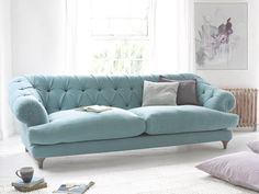 Add a touch of style to your home with a chesterfield style sofa Living Spaces Furniture, My Furniture, Colorful Furniture, Living Room Sofa, Pallet Furniture, Chesterfield Style Sofa, Rustic Sofa, Cozy Sofa, Farmhouse Table Chairs