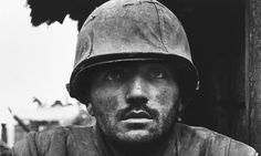 Portrait of a dazed American soldier, entitled Shellshocked US Marine, was taken during the battle for the city of Hue, Vietnam in 1968, by photojournalist Don McCullin
