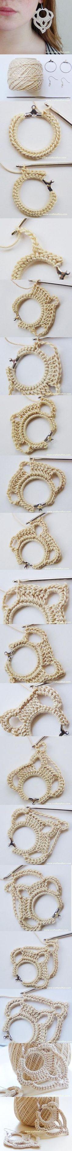 Idée boucle d'oreilles au crochet