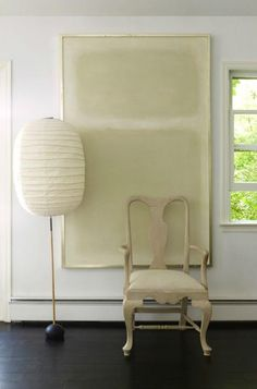 Mark Rothko painting , Isamu Noguchi lamp , antique chair