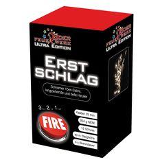 Erstschlag: Bei dieser Feuerwerksbatterie wernden 15 große, langziehende Tiefton-Heuler auf Schlag gezündet. #Feuerwerk, #Röder, #Silvester, #Onlineshop, #Feuerwerksbatterie