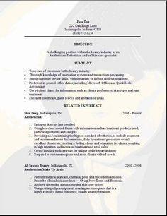 Medical Aesthetician Resume Sample Medical Esthetician