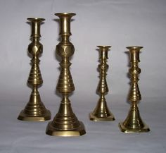 These BeeHive Brass Candle Sticks would look nice on a dinning room table or mantel.  I like them.