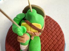 This is a tutorial that will teach you how to make a teenage mutant ninja turtle cake topper that would be perfect for a boys birthday cake. Monster High Birthday, Monster High Party, Ninja Turtle Birthday, Ninja Turtle Party, Ninja Turtles, Frozen Party Games, Slumber Party Games, Carnival Birthday Parties, Ninja Turtle Cake Topper