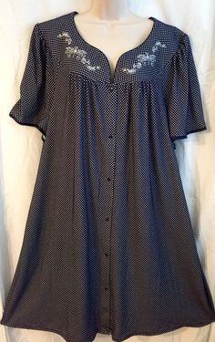 Womens PLUS SIZE 4X SNAP FRONT Patio Duster Housecoat Secret Treasures NWT  | eBay