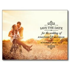 Simple Vintage Save the Date Post Card