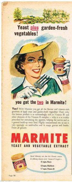 AUSTRALIAN Vintage Advertising SANITARIUM MARMITE AD JAR ART 1953 Original Ad | eBay
