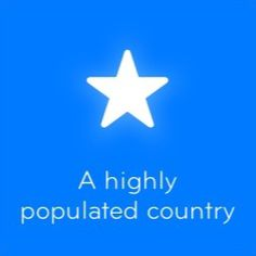A highly populated country 94 -  Cheats and answers 94%
