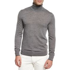 Michael Kors Merino Wool Turtleneck Sweater (510 DKK) ❤ liked on Polyvore featuring men's fashion, men's clothing, men's sweaters, grey, mens merino sweater, mens turtleneck sweater, mens grey sweater, mens gray turtleneck sweater and mens merino wool sweater