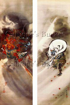 Raijin 雷神  god of lightning and thunder and by CalliopesBucket
