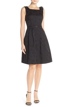 Ellen Tracy Floral Jacquard Fit & Flare Dress (Regular & Petite) available at #Nordstrom