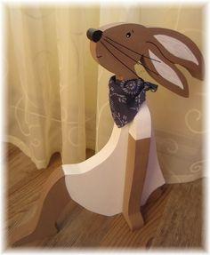 Hase  ....Felia ... sucht ein Zuhause  von schönes aus Holz    -     made by me  auf DaWanda.com