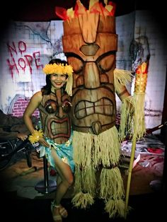 Tiki God - Eva Foam Costume : 10 Steps (with Pictures) - Instructables Halloween 2019, Holidays Halloween, Halloween Crafts, Halloween Decorations, Halloween Costumes, Tahiti, Zoo Boo, Tiki Art, Tiki Tiki