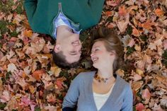 cute fall engagement photo idea --Justine Diffee