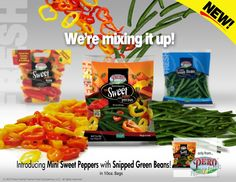Make your next meal, sweet, colorful, and nutritious!  They're even better, together!  #MiniSweetPeppers #GreenBeans #MiniSweetsandBeans #Vegetables
