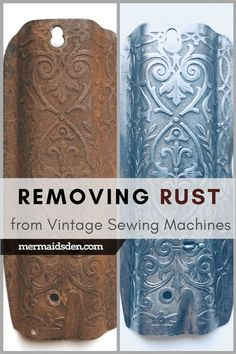 Sewing Machine Tutorial Cleaning and Removing Rust: Restoring Vintage Sewing Machines - As the owner of six vintage sewing machines, I've learned a lot (and made a few mistakes). Here's my advice on buying a vintage sewing machine. Featherweight Sewing Machine, Treadle Sewing Machines, Antique Sewing Machines, Vintage Sewing Patterns, Singer Sewing Machines, Vintage Sewing Notions, Sewing Hacks, Sewing Tutorials, Sewing Crafts