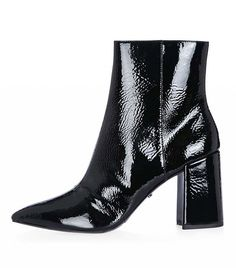 Topshop Heart Patent Flare Heel Boots