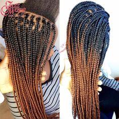"""2017 New Black and Brown Kanekalon Braiding Hair 24"""" Ombre Kanekalon Jumbo Braiding Hair Synthetic Expression Hair Extensions"""