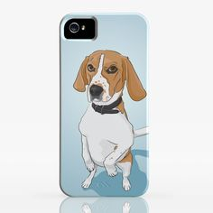 Standing Beagle - Smart Phone Case