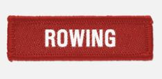 'Rowing' woven cloth badge with overlocked edges, various colours are available. *colours may vary slightly in shade due to differing monitor colours and manufacturing processes Size School Badges, Rowing Club, School Shopping, Lapel Pins, Monitor, Colours, Badges