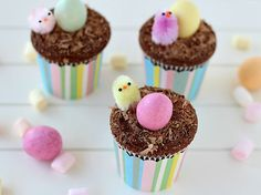 Cupcakes al cioccolato e mandorle - Delizie da forno   Donna Moderna