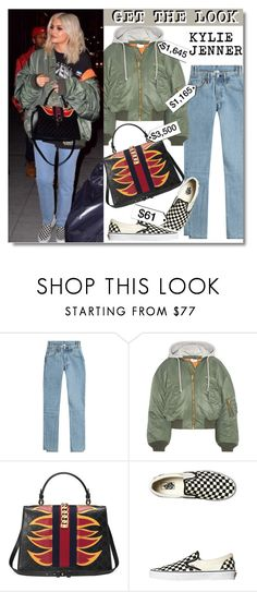 """Get The Look: Kylie Jenner"" by chocolate-addicted-angel ❤ liked on Polyvore featuring Vetements, Gucci, Vans, GetTheLook, Stealherstyle, celebstyle and KylieJenner"