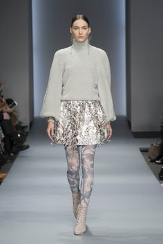 Karmic Slouch Poloneck, Adorn Tie Up Mini, Bird Chintz Stockings, Weave Ankle Boot