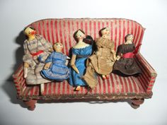 Family Of Grodnertal Dolls For TLC c1880