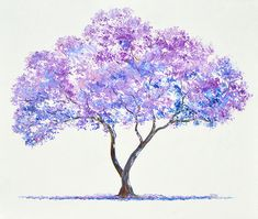 Simple Oil Painting, Oil Painting Abstract, Painting Art, Painting Flowers, Tree Painting Easy, Oil Painting Trees, Painting Videos, Painting Techniques, Watercolor Trees