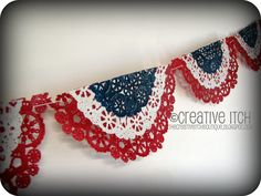 There are so many great ideas for 4th of July decor in blogland, but the minute I saw THIS BANNER  from The Scrap Shoppe , I just HAD  to ha...