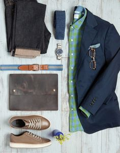 Men don't often discuss accessories, but that doesn't mean they can't wear them. Now's the time to try a new belt, watch, or pocket square.