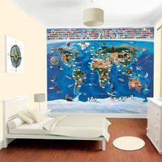 Tapete Weltkarte