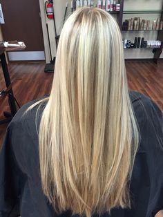 Blonde foil & balayage.