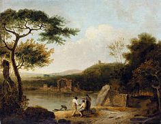 Lake Avernus I, 1765 - Richard Wilson Richard Wilson, Nicolas Poussin, Joseph Mallord William Turner, Royal Academy Of Arts, Art Database, Love Art, Les Oeuvres, Landscape Paintings, Landscapes