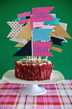 Colorful Cake Flags