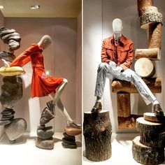 Movement collection & Casual Abstract collection by Hans Boodt Mannequins | Hermès windows at Brown Thomas.