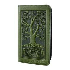 Avenue of Trees Oberon Design Custom Made Saddle Leather Checkbook Cover//Holder