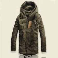 2013 NEW Winter Mens Military Trench Coat Ski Jacket Hooded Parka Thick Cotton