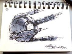 ArtStation - SpaceshipADay 002, Jeff Zugale